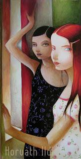 várakozók,furcsa kapcsolat két nő között, melankólikus hangulat, megállt az idő
