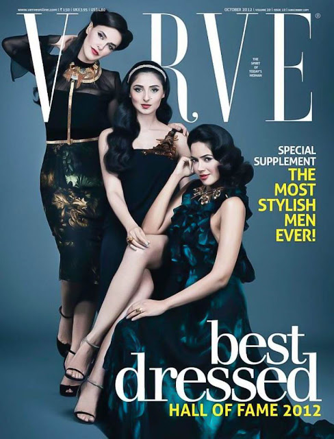 Neha Dhupia,Pernia Qrueshi, Sameera Reddy on cover of VERVE Magazine