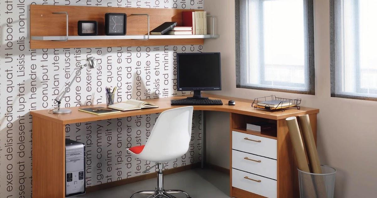 Escritorio juvenil en esquina sillas y escritorios - Escritorio juvenil blanco ...