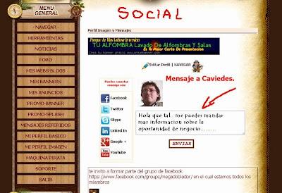 Sitio de intercambio de visitas 100 Social