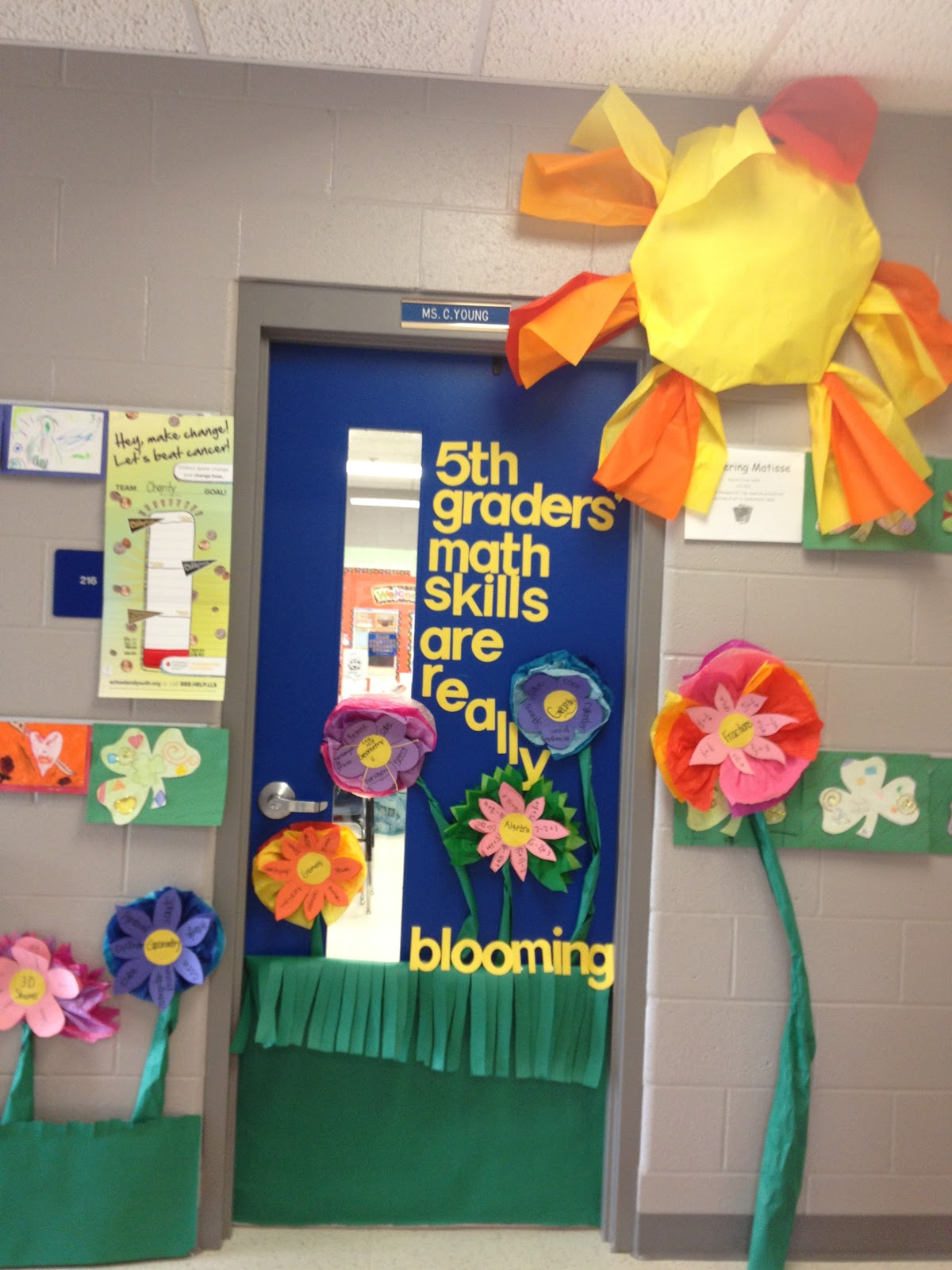 Spring classroom door decor for Art decoration for classroom