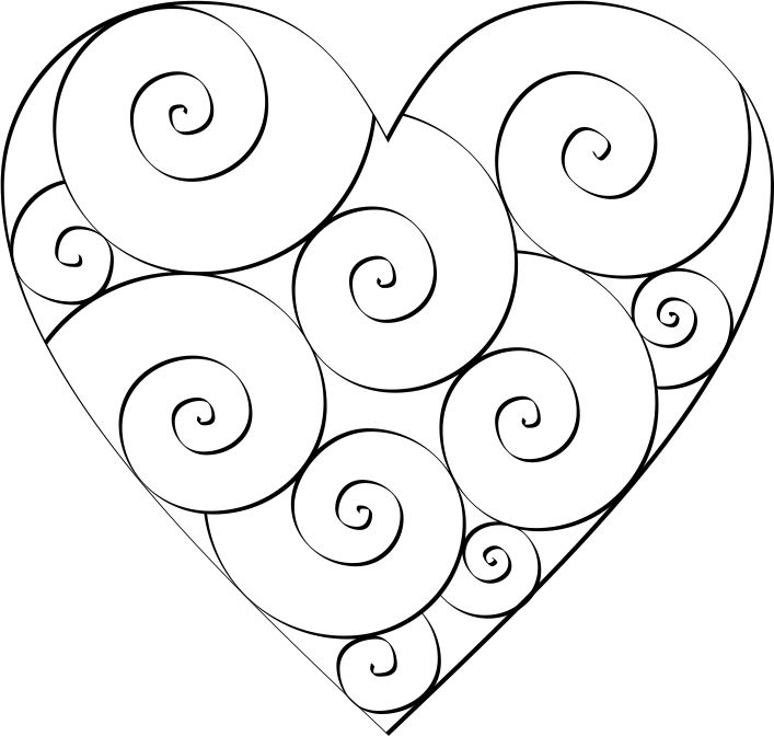 swirl hearts to color