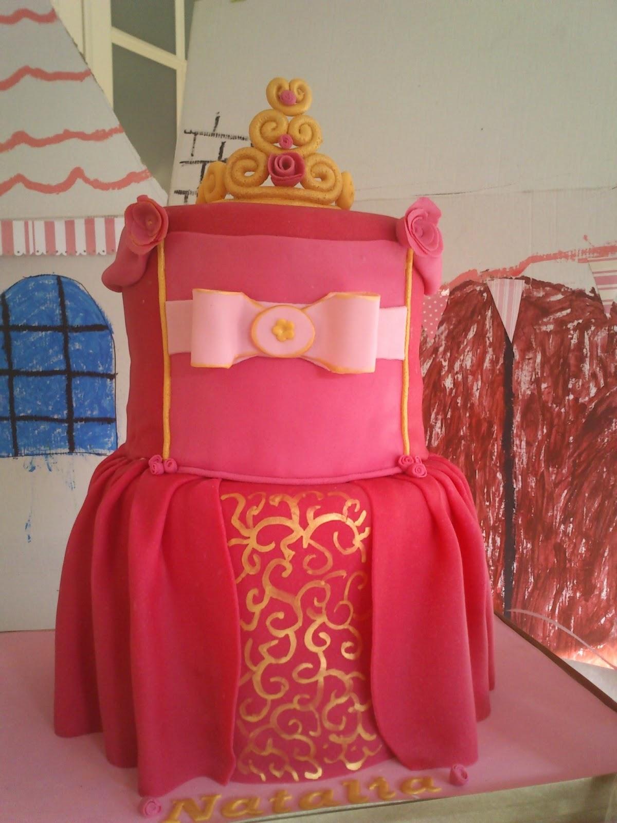 Eva Panadera: Tarta de vestido de princesa