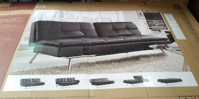 Lifestyle Solutions Ravenna Euro Lounger features leather material