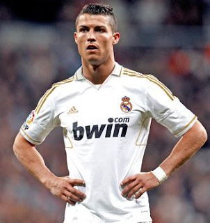 Cristiano Ronaldo on the Real Madrid home jersey 2011-2012