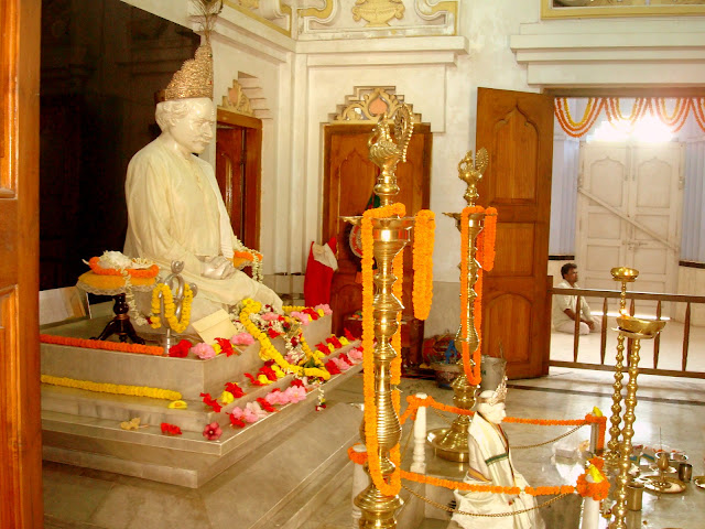 Inside Yogiraj Sri Shyama Charan Lahiri Mahasaya temple in Kakdwip, West Bengal, India - A temple for spreading Kriya yoga worldwide