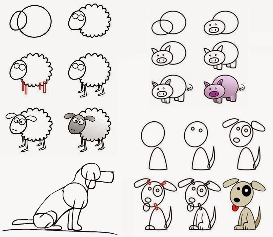 Plstica tercer ciclo Erillas Animales con formas geomtricas