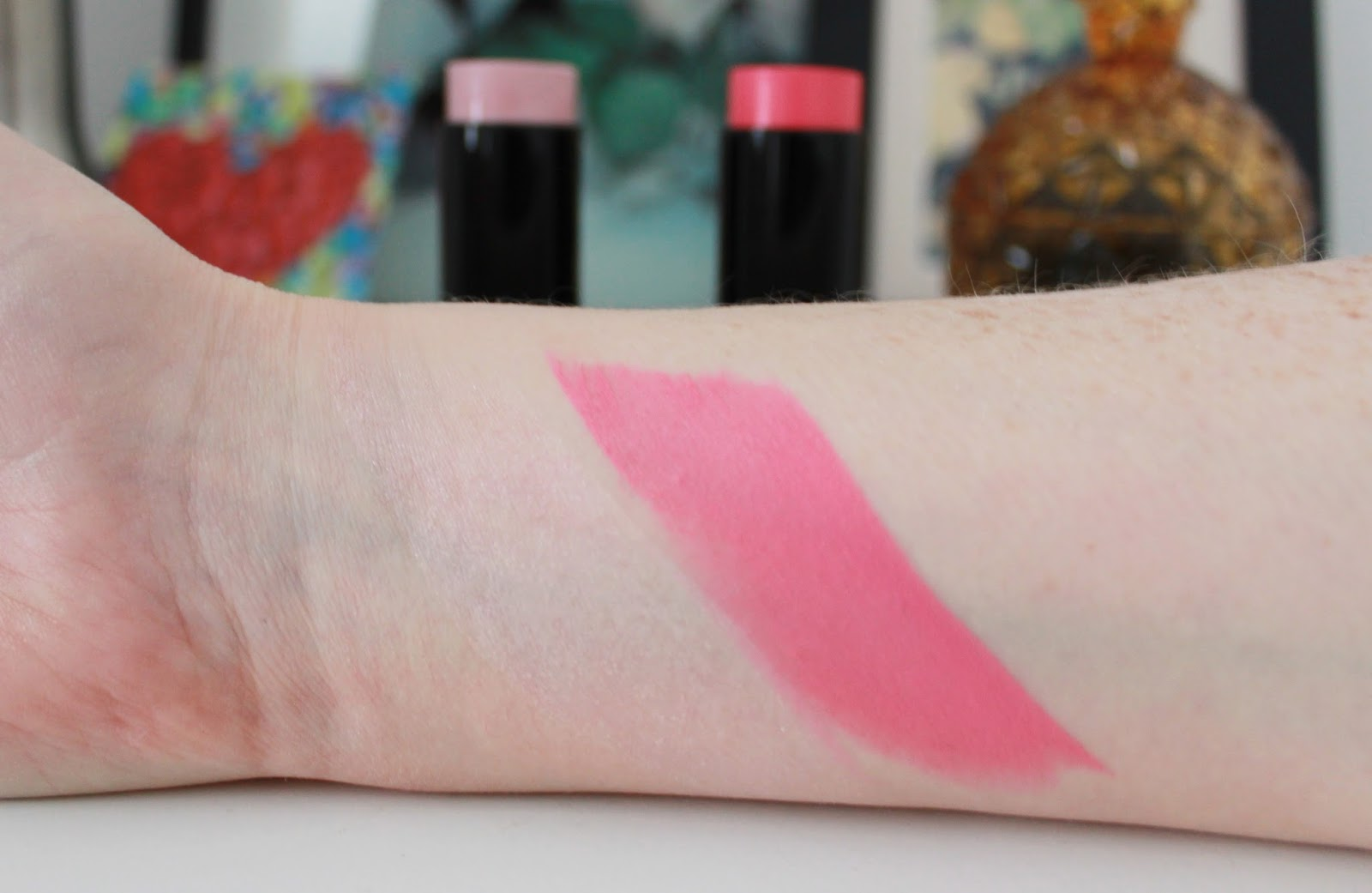 makeup revolution the one blush stick swatches
