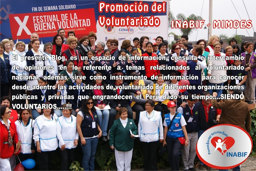 Promocion del Voluntariado - INABIF