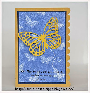 Beispielkarte für Schmetterlings-Hintergrund mit Streuteilen