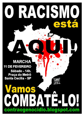Marcha contra o racismo 11 de fevereiro de 2012