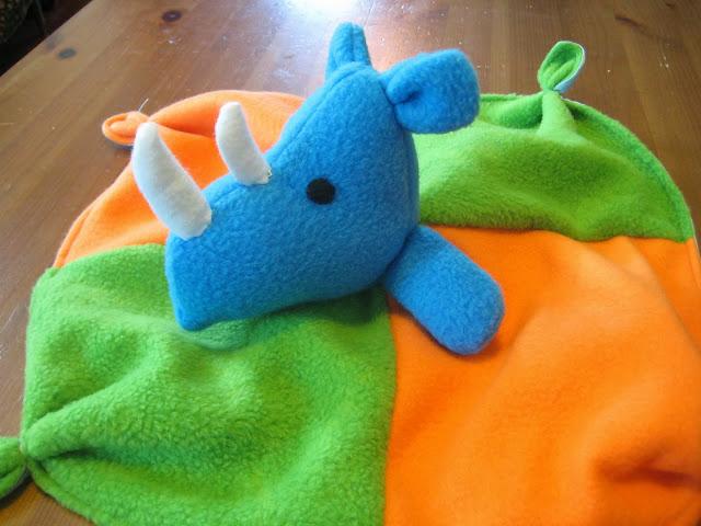 Rhino Lovey Blanket