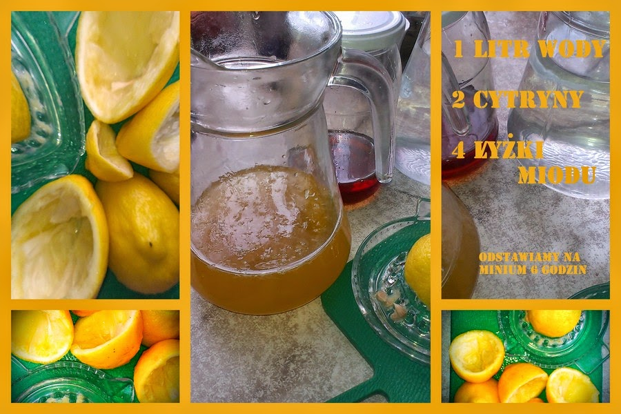 cytryny miód woda