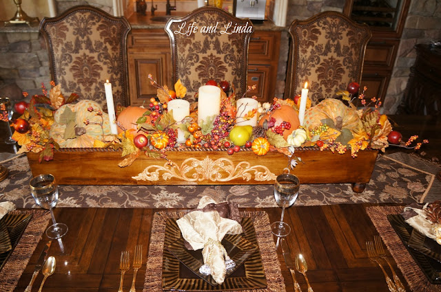 Fall tablescape    Life and Linda