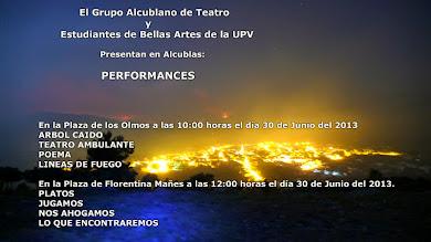 Performances en Alcublas conmemorando el 1º Aniversario de nuestro incendio