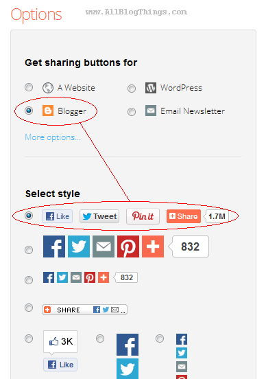 How To Use AddThis Sharing Buttons On Blogger Blogs