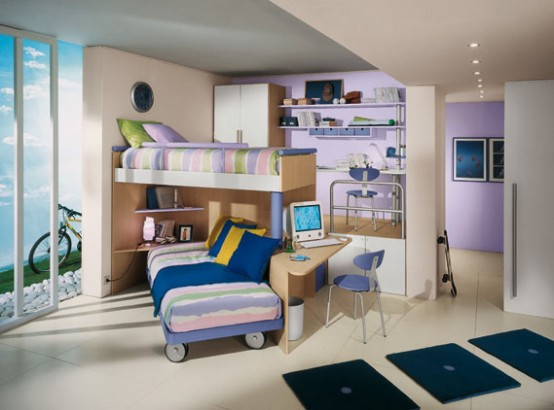 Best bunk beds awesome cool kids rooms ideas for Cool kids bedroom designs