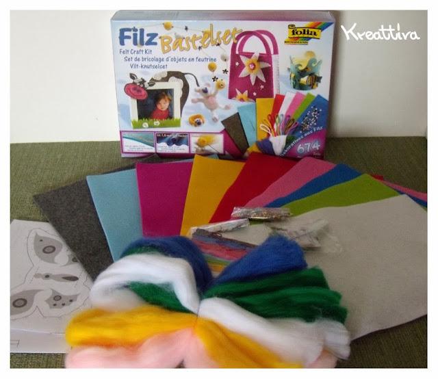 kit feltro e lana cardata opitec per lavoretti creativi