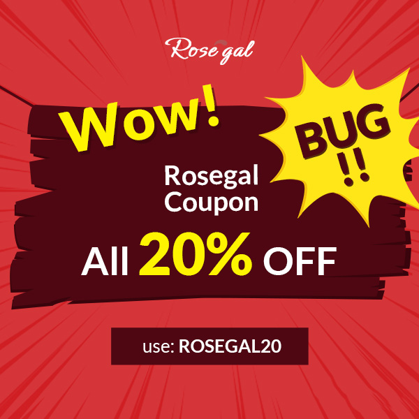 Wow! Rosegal Coupon Bug!!! ALL 20% OFF Use: rosegal20