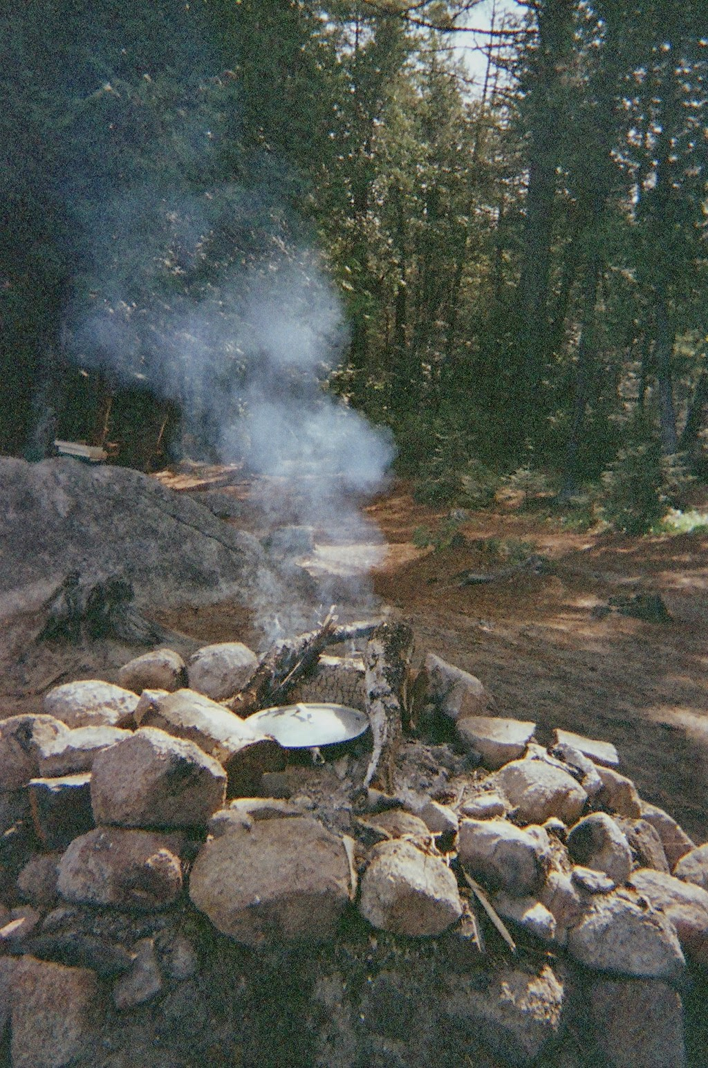 Campfire on Debsconeag Lakes, Maine