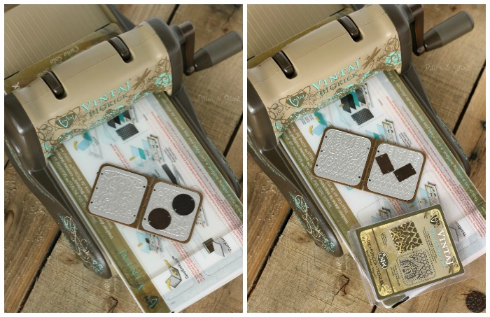 How to emboss metal blanks using Vintaj DecoEmboss dies from Sizzix. www.pitterandglink.com #sponsored
