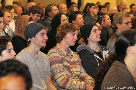 Young people at an Internet Mana meeting at Cheval Rooms, Hawke's Bay Racecourse, Hastings photograph