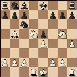 Partida de ajedrez María Dolores Marín, posición después de 11.Cd5!