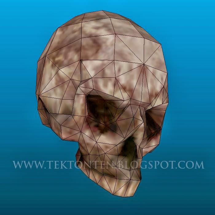 AvP Human Skull Papercraft