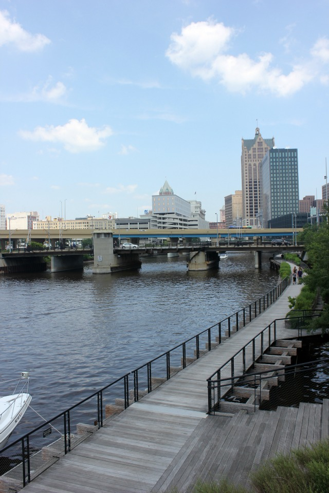 View from Milwaukee River, Milwaukee, Downtown Milwaukee