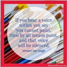 Vincent Van Gogh art quote