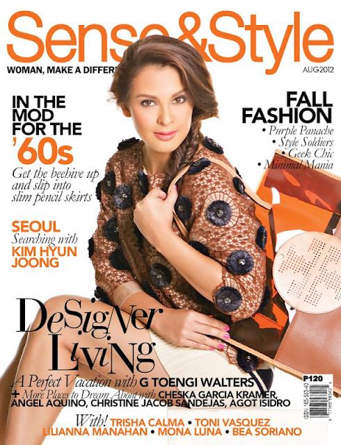 G Toengi Covers Sense & Style magazine August 2012 issue