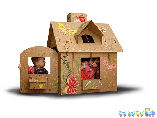 10 Ideas and Details Guides For Homemade Paper Toy Houses
