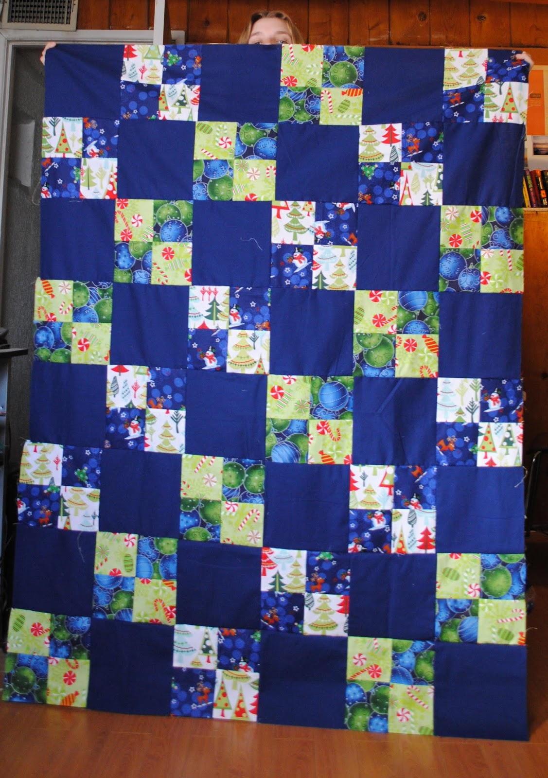 Holiday quilt top