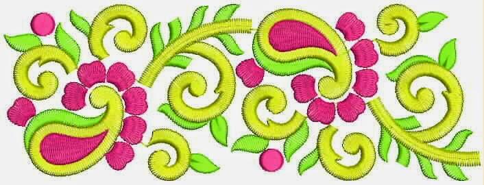 abstrakte paisley borduurwerk ontwerp Kant grens