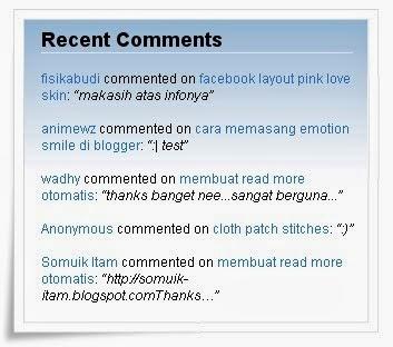 Script Widget Untuk Menampilkan Komentar Di Blog