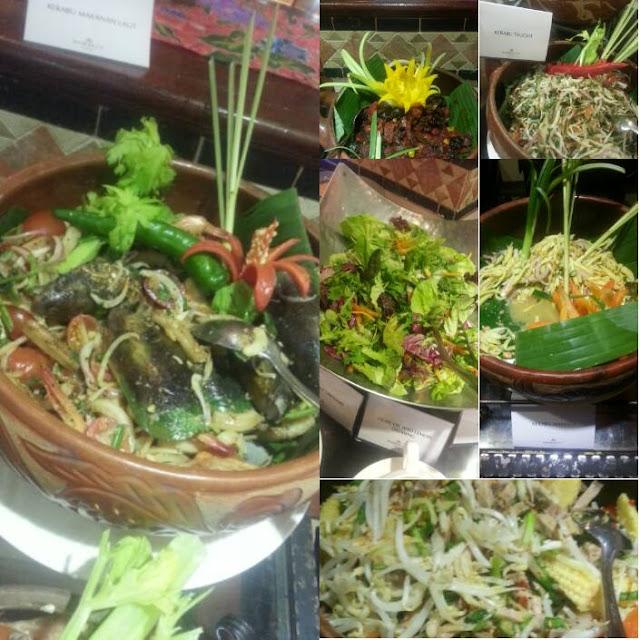 seafood, mangga,tauge