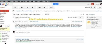 Resiko Blogspot Di hapus google