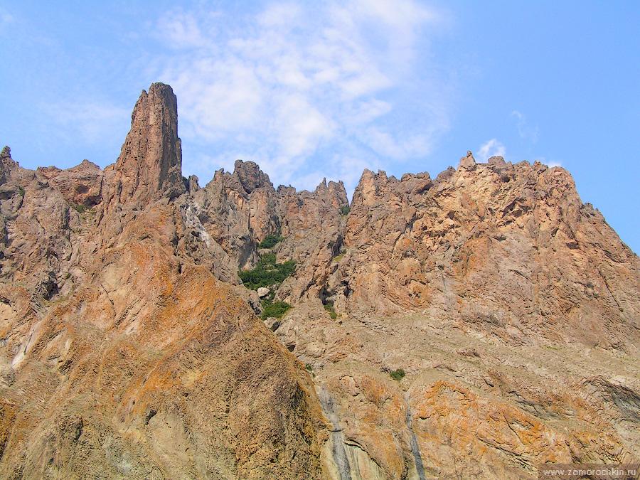 Кара-Даг. Причудливые формы застывшей лавы | Kara-Dag. Bizarre forms of frozen lava