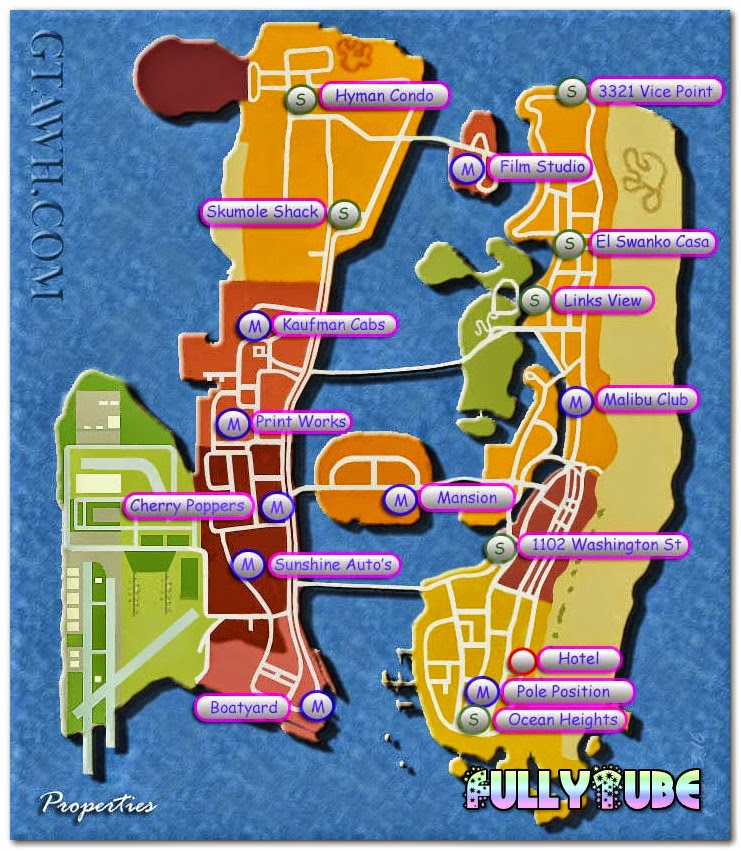 GTA Vice City Game Houses