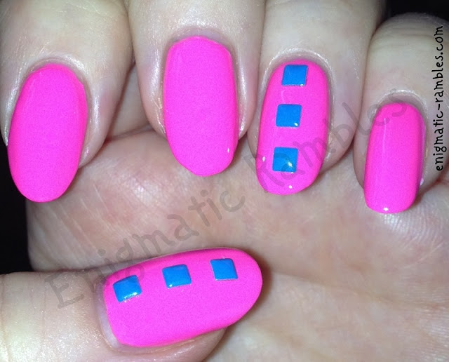neon-stud-studded-barbie-pink-nails-nail-art