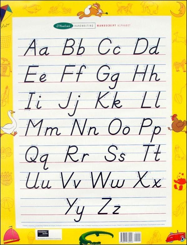 Handwriting Alphabet Chart