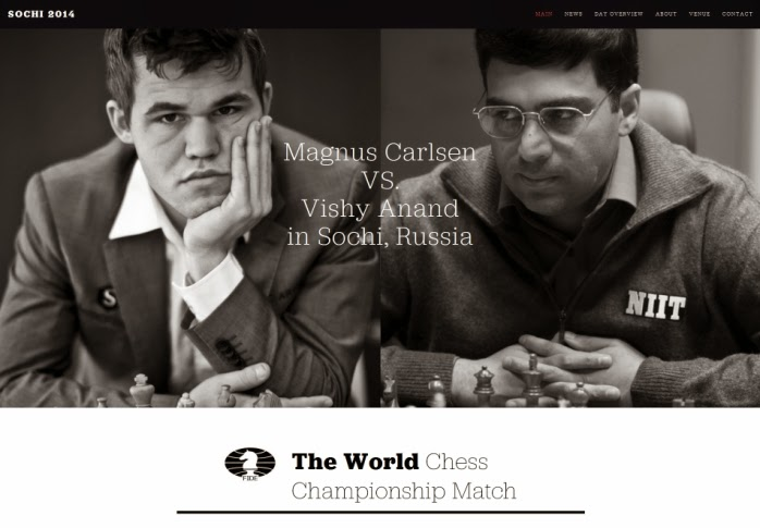 Carlsen - Anand Match  -  Sochi 2014