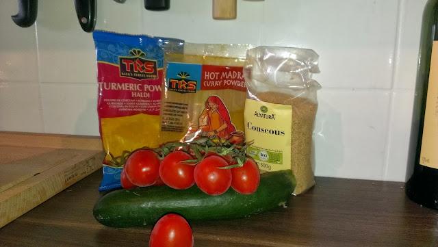 Gemüse-Couscous mit Dip