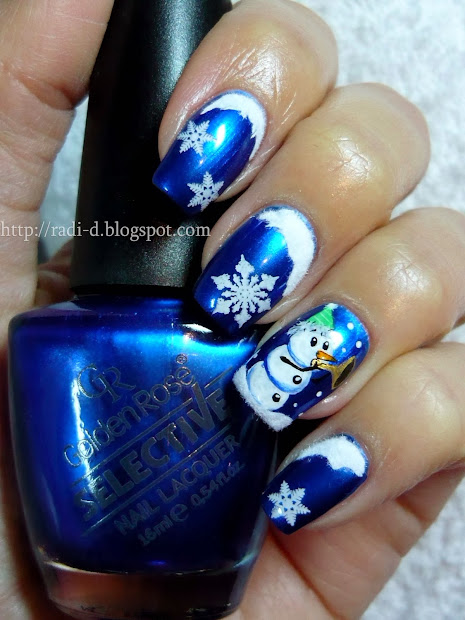 nails blue magic