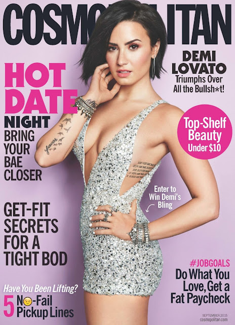 Actress, Singer @ Demi Lovato - Cosmopolitan USA, September 2015