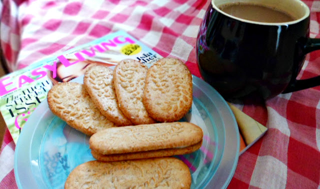 relax with coffee and biscuits