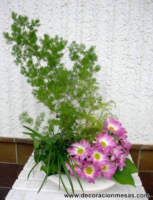 centro flores margaritas
