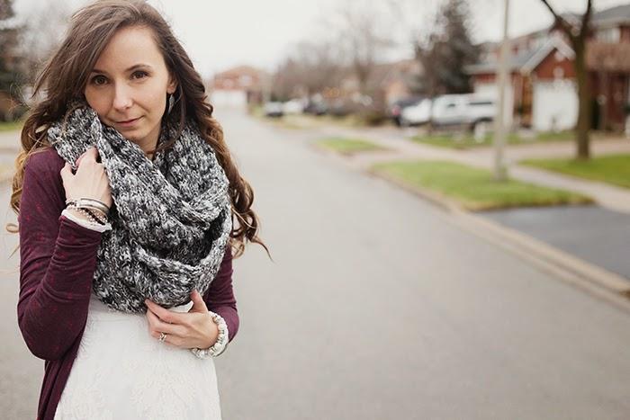 Infinity-scarf-long-cardigan-boho