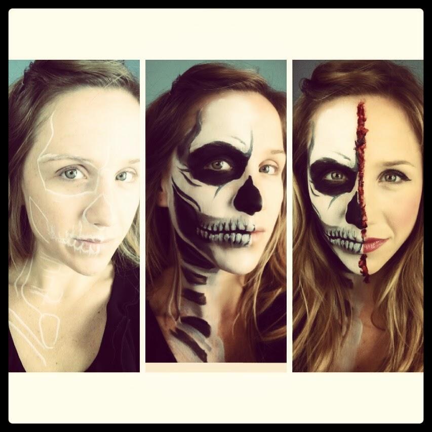 Primp Powder Pout - a Make-Up Artist's Life: Half Skeleton Half ...