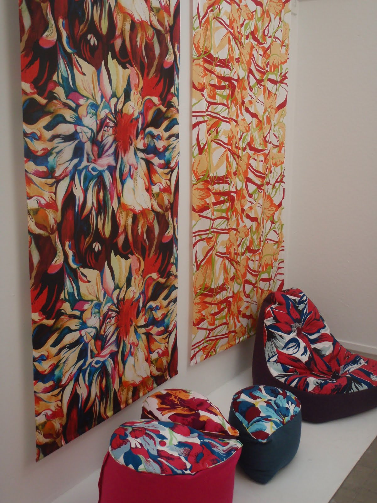 textile thesis display